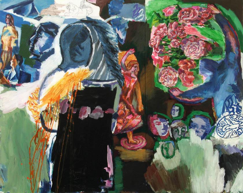 o. T., 70 x 100 cm, Acryl auf Hartfaserplatte