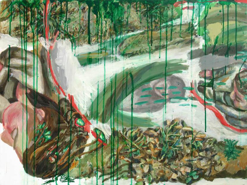 Wegbereiterin, 60 x 80 cm, Acryl auf Hartfaserplatte