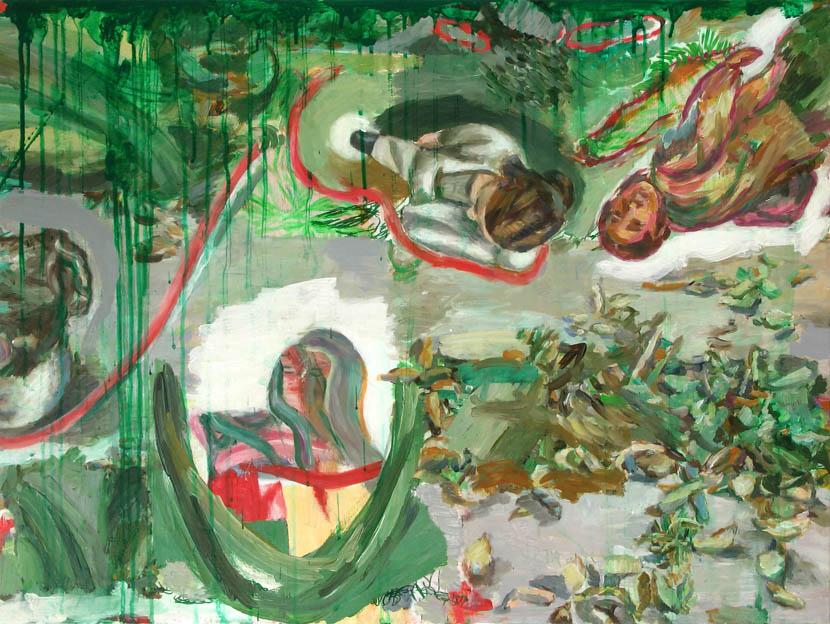 Begleiterin, 60 x 80 cm, Acryl auf Hartfaserplatte