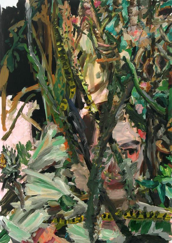 Sichtgrenze, 70 x 50 cm, Acryl auf Hartfaserplatte