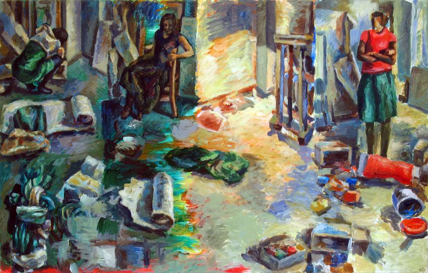 o. T., 70 x 110 cm, Acryl auf Hartfaserplatte