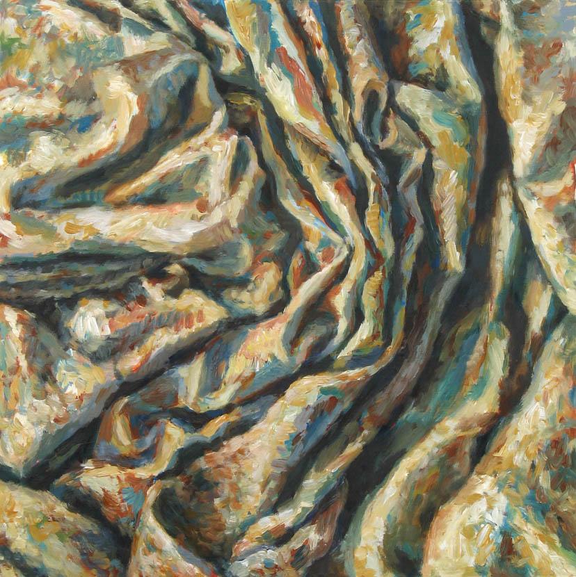 o. T., 50 x 50 cm, Acryl auf Hartfaserplatte