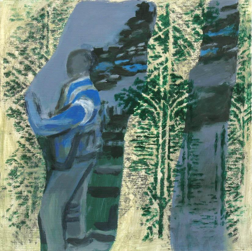 o. T., 25 x 25 cm, Acryl auf Hartfaserplatte