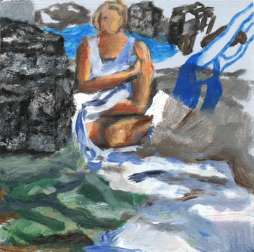 o. T., 13 x 13 cm, Acryl auf Hartfaserplatte