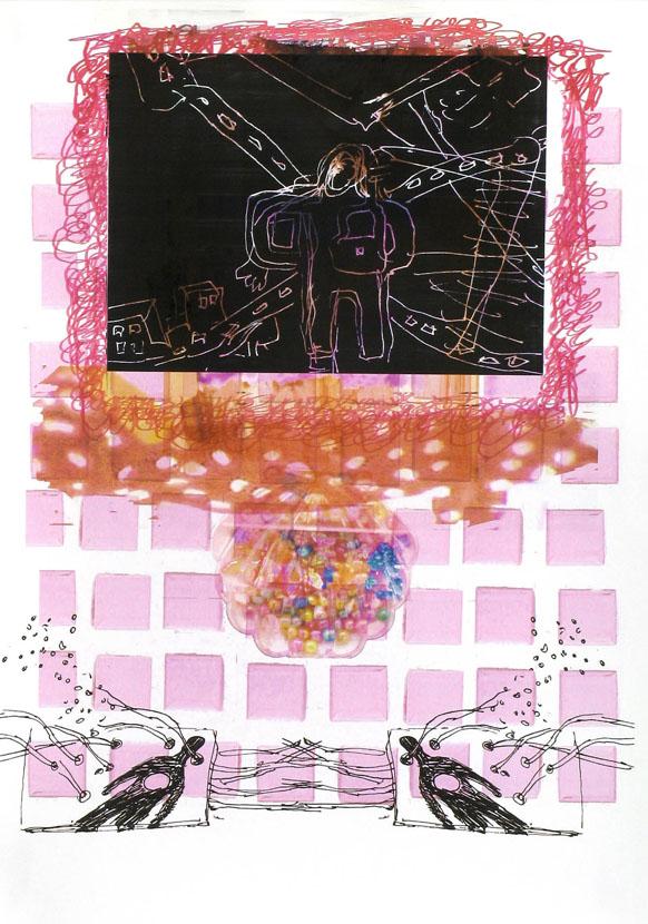 Wegenetz, 30 x 20 cm, Digitaldruck