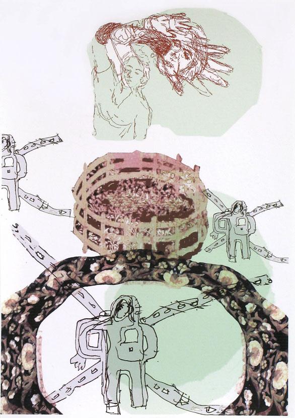 vorsichtige Bewegung, 30 x 20 cm, Digitaldruck