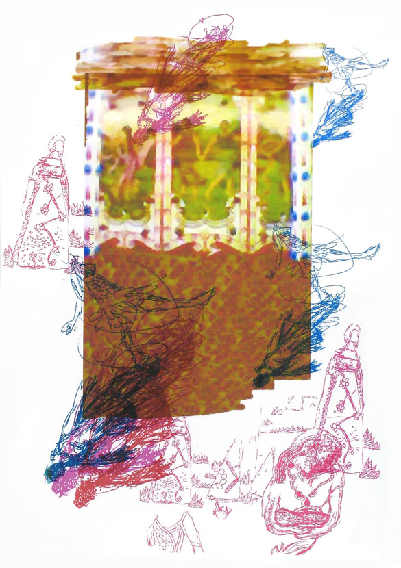 im Boden eingeschrieben, 30 x 20 cm, Digitaldruck