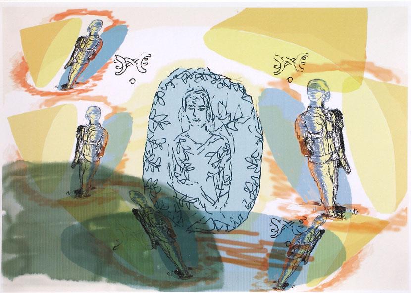 Kapseln, 20 x 30 cm, Digitaldruck
