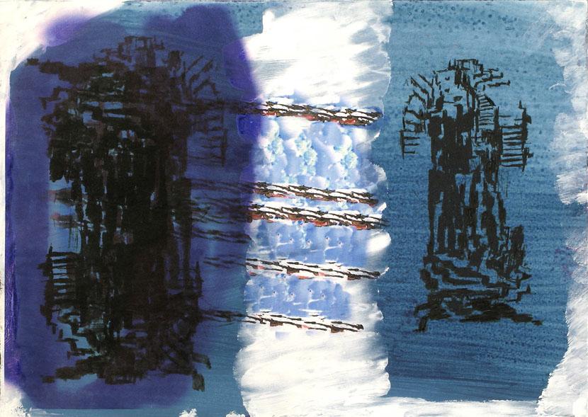 o. T., 20 x 30 cm, Digitaldruck, Acryl