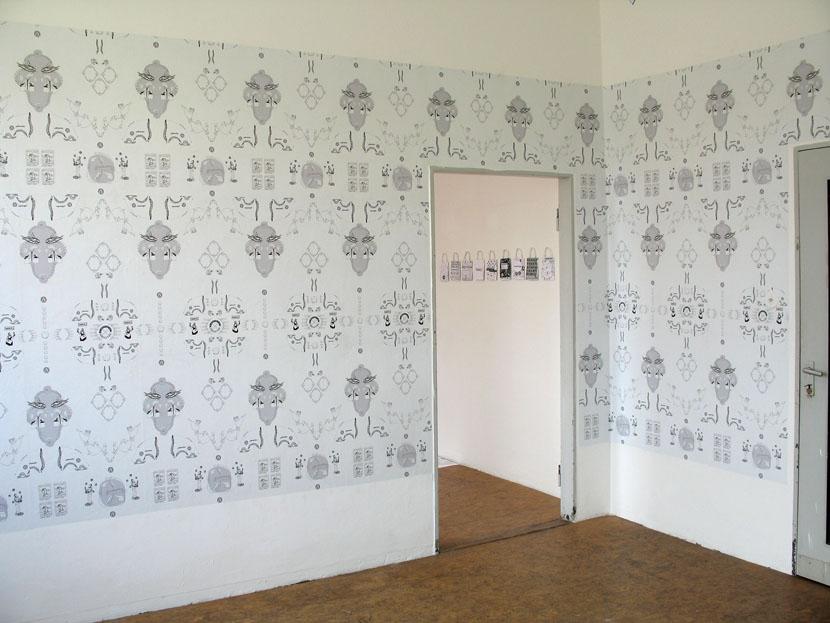 "Kunde Nr. 98, ""Jobcentertapete"", Galerie Herold (siehe auch ""Thementapete"")"