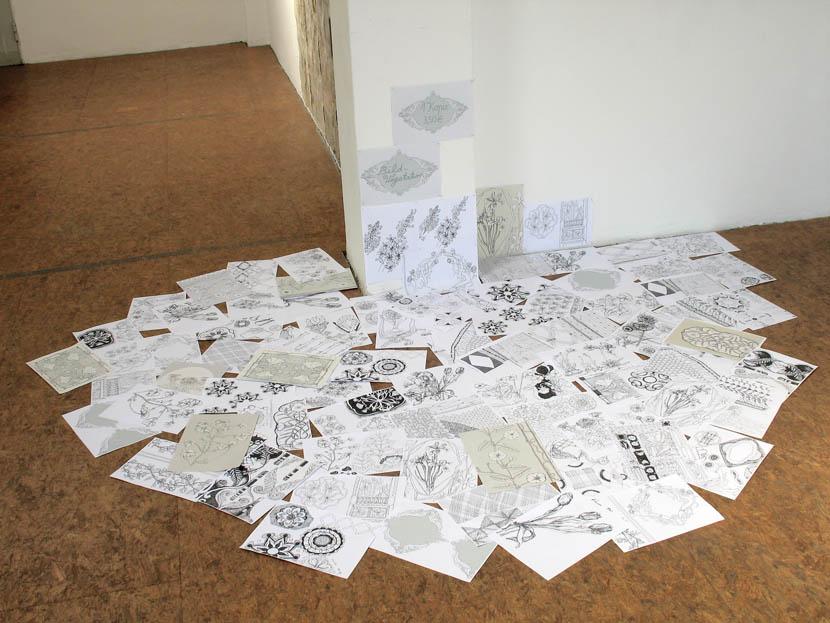 """Kunde Nr. 98, """"Bildvegetation"""", Kopien von Zeichnungen, Galerie Herold"""
