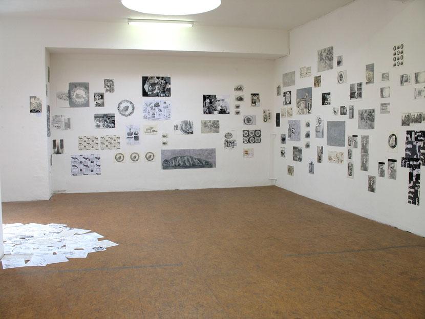 Kunde Nr. 98, Netzgefuege aus Zeichnungen, Galerie Herold