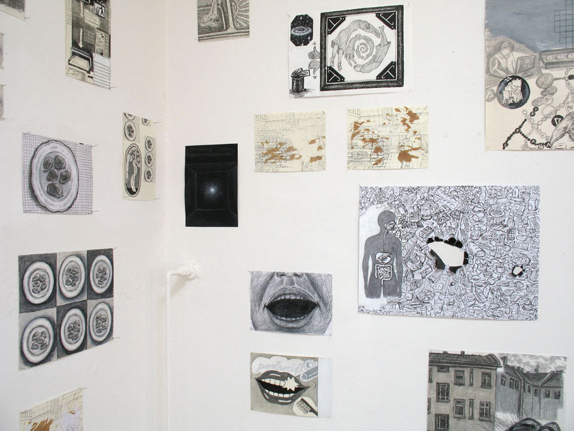 Kunde Nr. 98, Netzgefuege aus Zeichnungen, Ausschnitt, Galerie Herold
