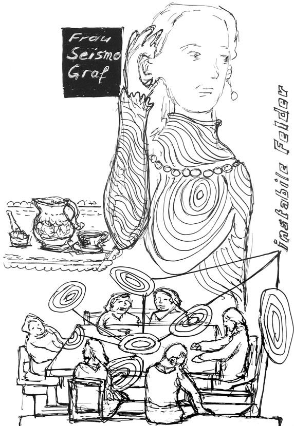 Frau Seismo Graf, 30 x 21 cm, Pigmenttusche