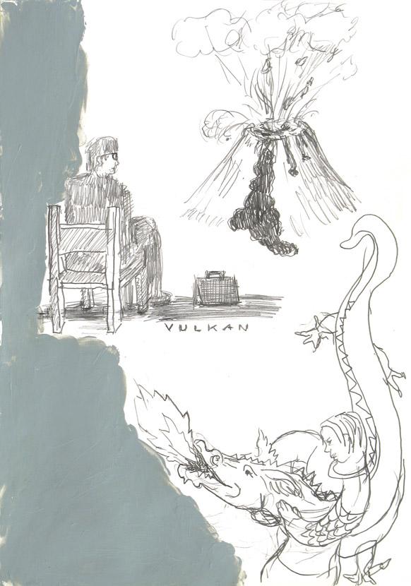 o.T., 30 x 21 cm, Bleistift, Acryl