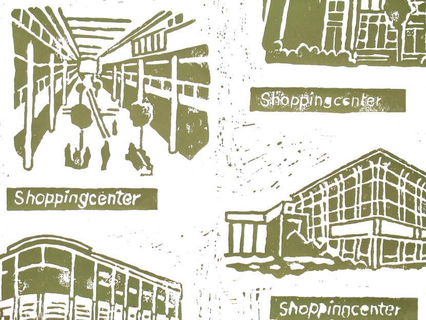 Shoppingcentertapete, Ausschnitt