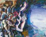 ausser Sicht, 20 x 30 cm, Acryl auf Hartfaserplatte