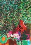 Zwiespalt, 70 x 50 cm, Acryl auf Hartfaserplatte