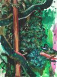 Schlangenlinie, 40 x 30 cm, Acryl auf Hartfaserplatte