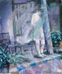 o. T., 50 x 40 cm, Acryl auf Hartfaserplatte