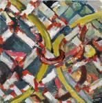 o. T., 20 x 20 cm, Acryl auf Hartfaserplatte