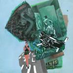 o. T., 40 x 40 cm, Acryl auf Hartfaserplatte