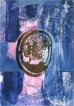 Kopfhaar, 30 x 20 cm, Digitaldruck, Acryl