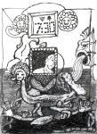 o.T., 21 x 15 cm, Pigmenttusche, Bleistift, Zeichenkreide