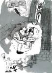 o.T., 30 x 21 cm, Pigmenttusche, Acryl, Bleistift