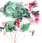 o.T., 40 x 40 cm, Pigmenttusche, Acryl